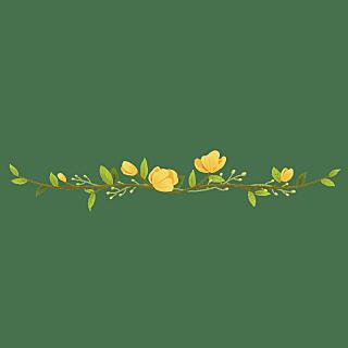 卡通风树叶花朵文章分割线贴纸9
