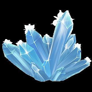 手绘海洋元素装饰贴纸-水晶晶簇1