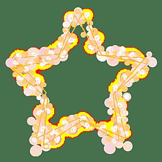手绘-气氛灯串元素-五角星