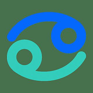 十二星座简约贴纸-SVG-巨蟹座