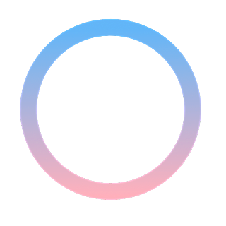 手绘-基础图形边框渐变-圆圈