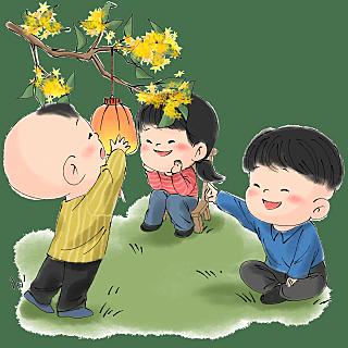 水墨-中秋节节日元素人物场景4