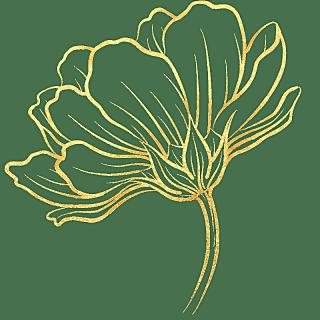 手绘-奢华金属花朵贴纸-花朵