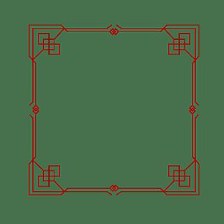 扁平中国风传统边框元素10