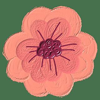 手绘蜡笔-油画棒花朵贴纸-花朵5