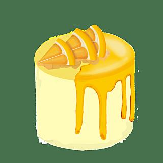 油画棒-油画棒蛋糕元素