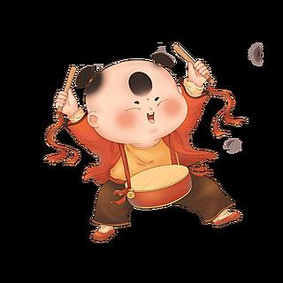 春节-中国风儿童人物插画-福娃