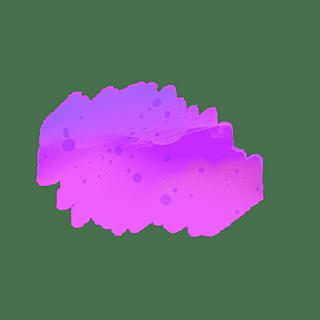 水彩渲染色块装饰元素贴纸10