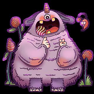 手绘-创意小怪兽贴纸