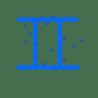 手绘-十二星座星轨贴纸SVG-双子座