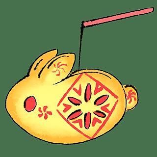 水墨-中秋节节日元素贴纸5
