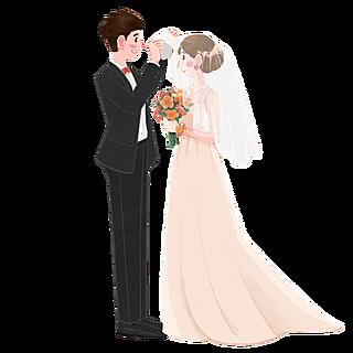 手绘风-人物插画贴纸-婚礼