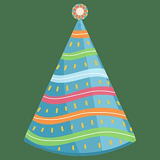 手绘-生日装饰元素-帽子