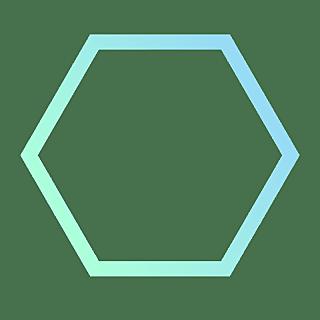 手绘-基础图形边框渐变-六边形