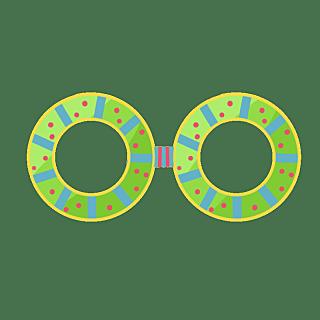 手绘-生日装饰元素-眼镜