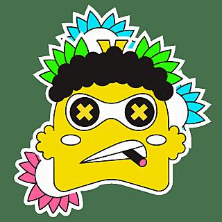 SVG-撞色卡通贴纸-小怪兽