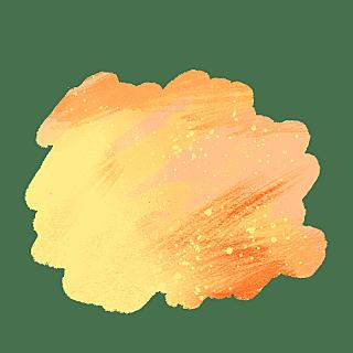 水彩渲染色块装饰元素贴纸7