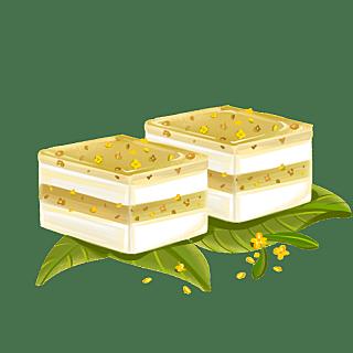 手绘-中秋节美食元素-桂花糕