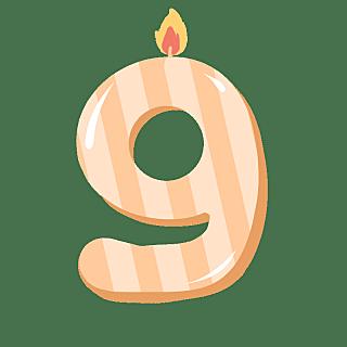12W-常规-生日蜡烛数字贴纸2-简单-B