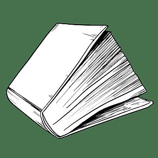 手绘-学习用品图书素描贴纸-SVG9
