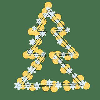 手绘-气氛灯串元素-圣诞树