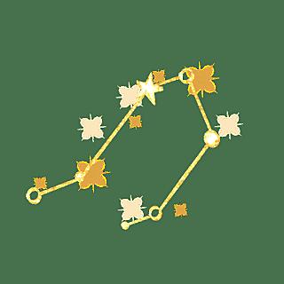 手绘-简约十二星座贴纸-天秤座