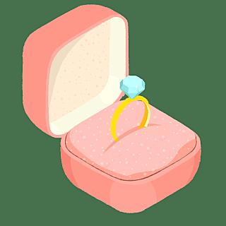 手绘-婚礼配饰贴纸-戒指
