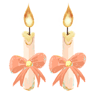 手绘-婚礼油画棒风元素-蜡烛