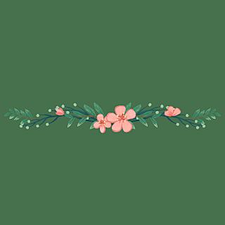 卡通风树叶花朵文章分割线贴纸5