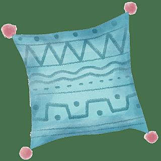水彩风-书房元素-抱枕