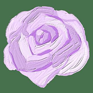 手绘蜡笔-油画棒花朵贴纸-玫瑰花