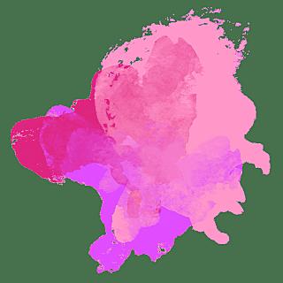 手绘-水彩渲染色块装饰元素贴纸5