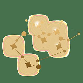 手绘-卡通风十二星座贴纸-射手座
