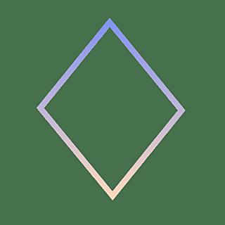 手绘-基础图形边框渐变-菱形