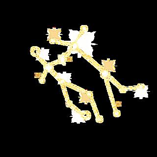 手绘-简约十二星座贴纸-双子座