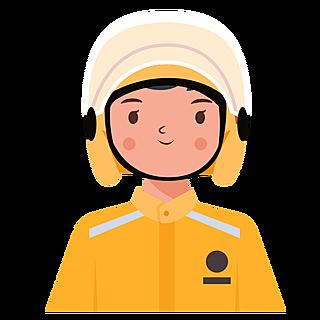 ICON-人物头像职业元素-外卖员1