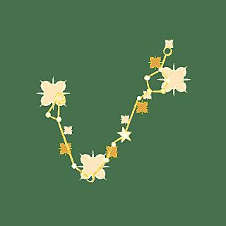 手绘-简约十二星座贴纸-双鱼座