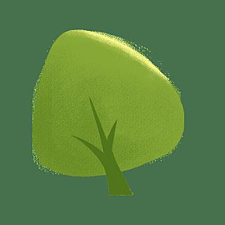 手绘风-植物元素贴纸-树