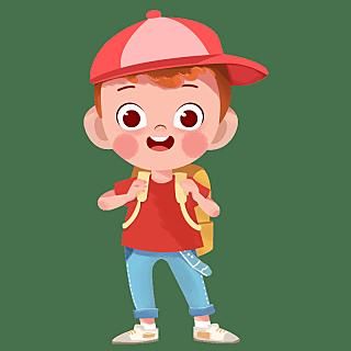 手绘-卡通儿童元素人物插画贴纸3