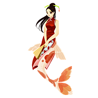 手绘-童话美人鱼元素
