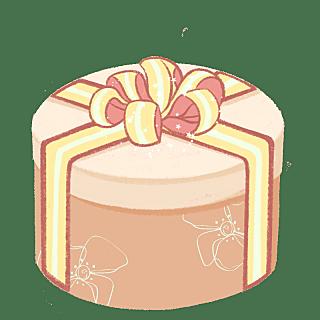 手绘-婚礼配饰贴纸-蛋糕