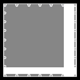 手绘-星光可爱边框5