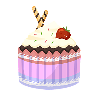 生日装饰元素-生日蛋糕