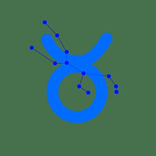 手绘-十二星座星轨贴纸SVG-金牛座