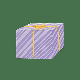 手绘风-生日元素-礼物