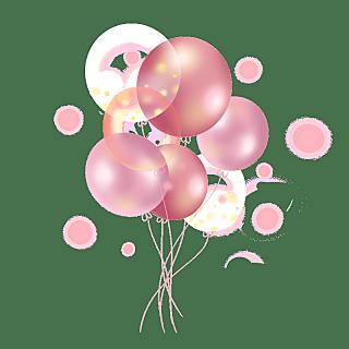 扁平-儿童生日摆件元素-气球