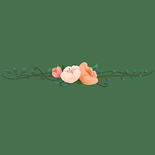 卡通风树叶花朵文章分割线贴纸2