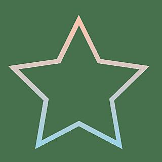 手绘-基础图形边框渐变-五角星