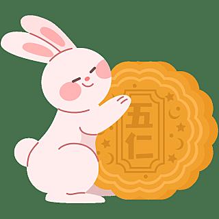 SVG-中秋节贴纸-兔子