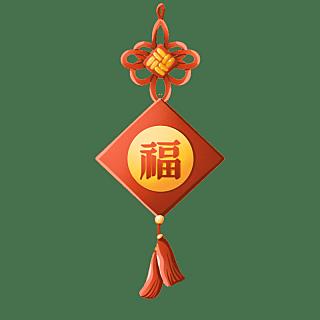 手绘-中国结元素装饰贴纸23